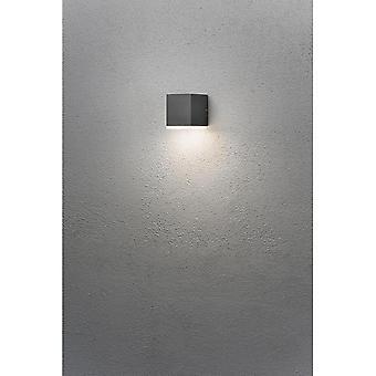 Konstsmide Monza grijs blokje LED Wall licht omlaag licht