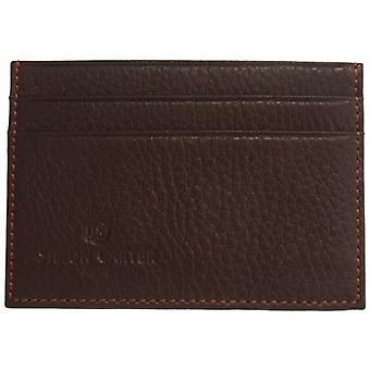 Simon Carter zacht leer Credit Card houder - Brown