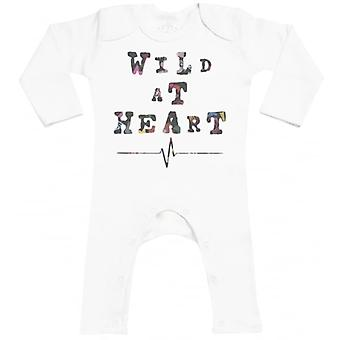 Spoilt Rotten Wild At Heart Baby Footless Romper