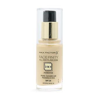 Max Factor Facefinity All Day Flawless 3-1 Foundation 33 Beige 30ml