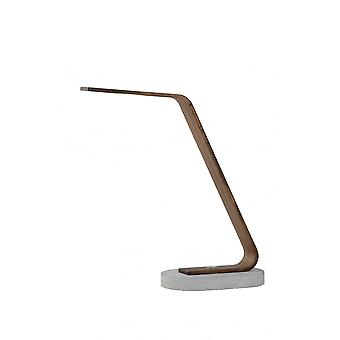 Lucide DANI Desk Lamp LED 5W 3000K Dark Wood/Concreet