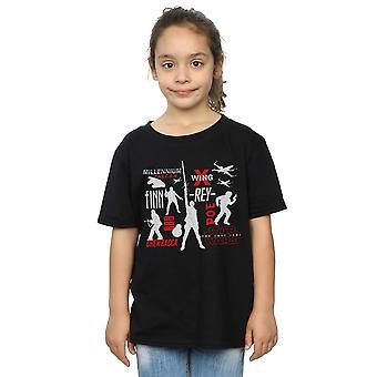 Star Wars Girls der letzten Jedi Rebellion Silhouetten-t-Shirt