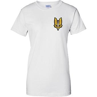 SAS Insignia - Who Dares Wins - UK Special Forces - Ladies Chest Design T-Shirt