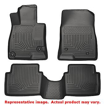 Husky Liners 98651 Black WeatherBeater Front & 2nd Seat FITS:MAZDA 2014 - 2014