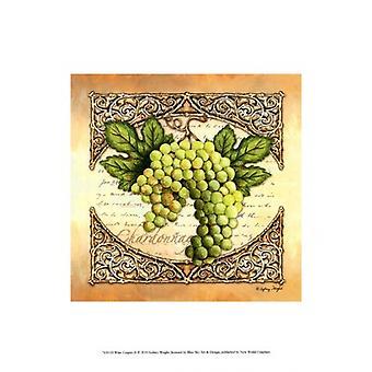 Vindruvor II affisch Skriv av Sydney Wright (10 x 13)