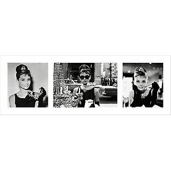 Audrey Hepburn - Breakfast at Tiffanys Triptych Poster Poster Print