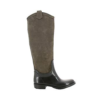 Longhi women's 210002MARRONE brown suede leather boots * damaged box *.