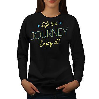 Vita viaggio donne BlackSweatshirt | Wellcoda