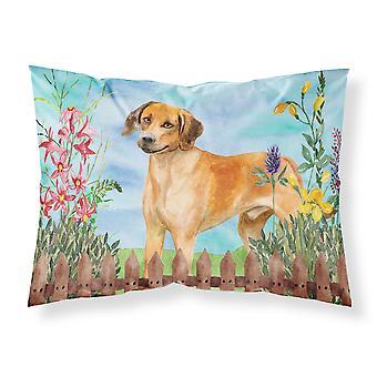 Rhodesian Ridgeback Spring Fabric Standard Pillowcase