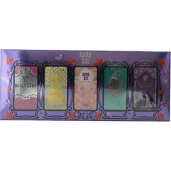 Anna Sui Variety By Anna Sui 5 Piece Mini Variety With Dolly Girl & Flight Of Fancy & Fairy Dance & Secret Wish & Forbidden Affair And All Are .14 Oz Minis