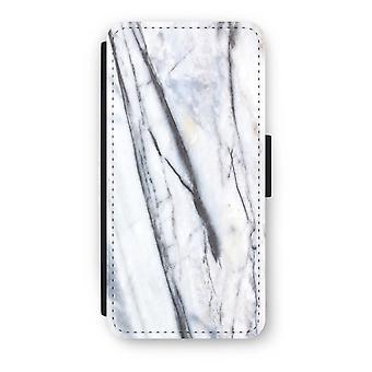 iPhone 7 フリップ ケース - 縞大理石