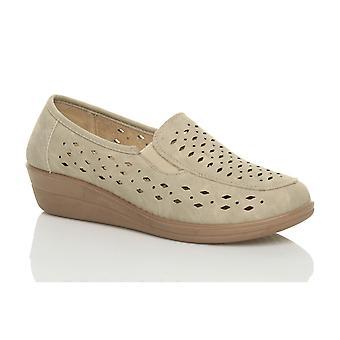 Ajvani womens wedge lavoro comfort flessibile piatto mocassini pantofole scarpe da passeggio