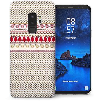 Samsung Galaxy S9 Plus Christmas Tree Fairisle Jumper TPU Gel Case – Red