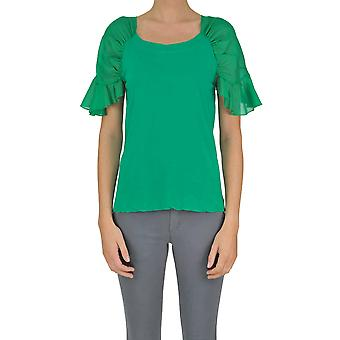Jucca ladies MCGLTPT03113E green cotton top