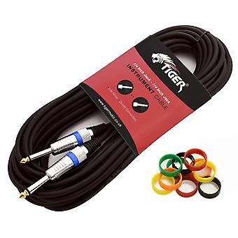 Tiger 10m (33ft) 6.3mm (1/4 inch) Jack to Jack Guitar Cable