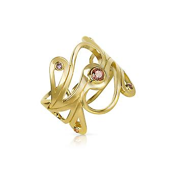 Sho London ladies MA015YP gold gold ring