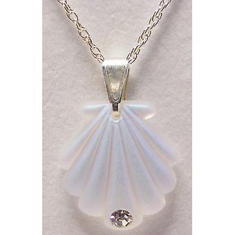 Aurora Borealis Small Shell ciondolo cristallo