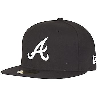 New Era 59Fifty Fitted Cap - Atlanta Braves schwarz / weiß