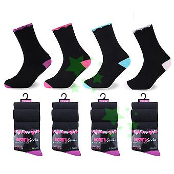 Ladies Fashion Neck Heart Socks 4-6 Size 12 Pairs