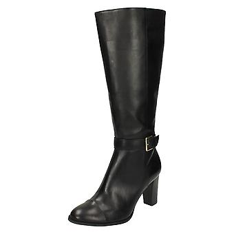 Ladies Clarks Leather Knee High Boots 'Lorin Alfresco' Black UK 7D, EU 41