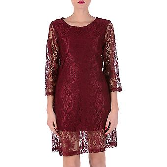 V 1969 Italia Womens Dress 3/4 Sleeves Bordeaux Milena