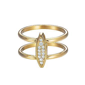 Esprit Damen Ring Edelstahl Gold Zirkonia Exclusive ESRG12856B