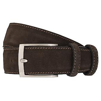 OTTO KERN belts men's belts leather belt suede Brown 7018