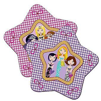 Placas de parte placa placa placa glamour chica niños fiesta cumpleaños estrella 8 PC