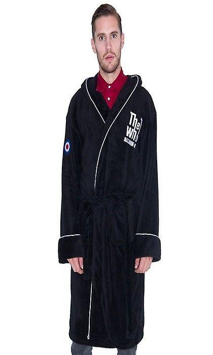 THE WHO MAXIMUM RNB BLACK BATHROBE / Dressing Gown - New & Official With Tag