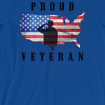 Proud Veteran Gift T-Shirt Mens Royal Blue Shirt American Army Gift