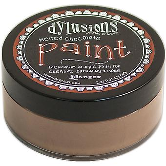 Dylusions By Dyan Reaveley Blendable Acrylic Paint 2oz-Melted Chocolate