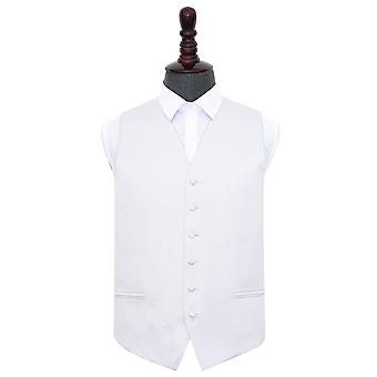 White Plain Satin Wedding Waistcoat