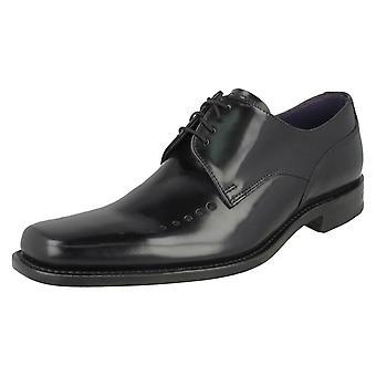 Mens Loake Smart Polished Leather Lace Up Shoes Poseidon