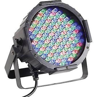 LED PAR stage spotlight Renkforce DL-LED107S No. of LEDs: 108 x Black