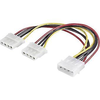 Extensión de Cable actual de Renkforce [1 x IDE power conector 4 pines - 2 x IDE power conector 4 pines] 0.20 m negro, rojo, amarillo