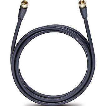 Oehlbach Antennas, SAT Cable [1x F plug - 1x F plug] 2 m 110 dB gold plated connectors Black