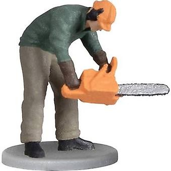 Viessmann 1548 H0 moving figures Forest worker with chain saw