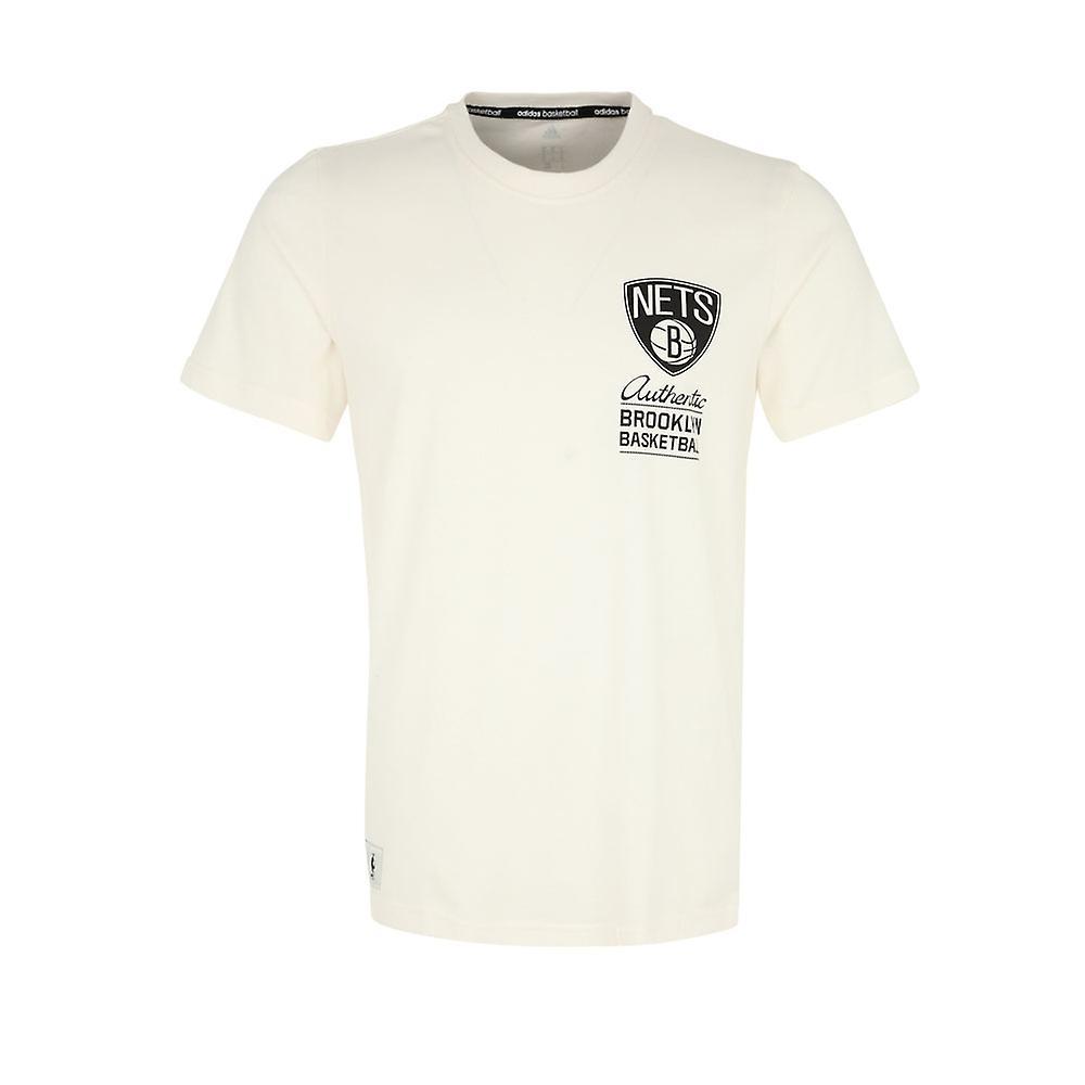 ADIDAS Brooklyn Nets basketball Washed T Shirt [cream]