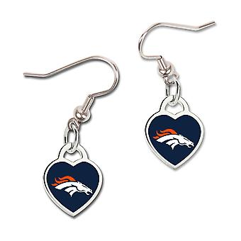 Wincraft ladies 3D heart earrings - NFL Denver Broncos