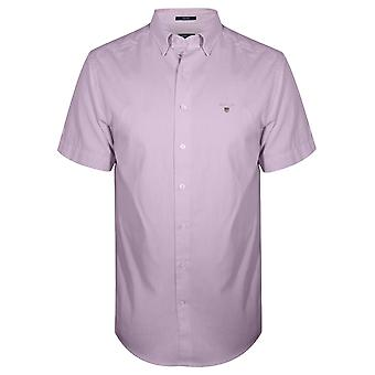 Camisa de manga curta Regular Gant GANT Oxford rosa