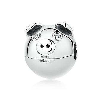 Sterling silver clip Pig