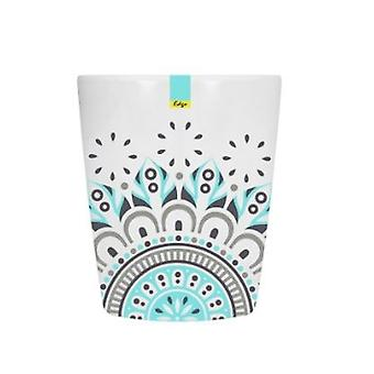 Blue Patterned Melamine Abstract Summer - Tumbler 70 x 84mm Camping Kitchen