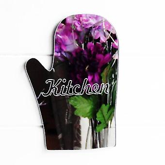 Kitchen Engraved Oven Glove Acrylic Mirror Sign