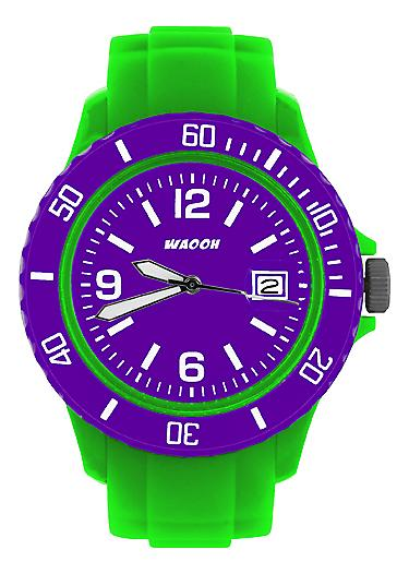 Waooh - Watch Green Dial & Bezel MONACO38 Color