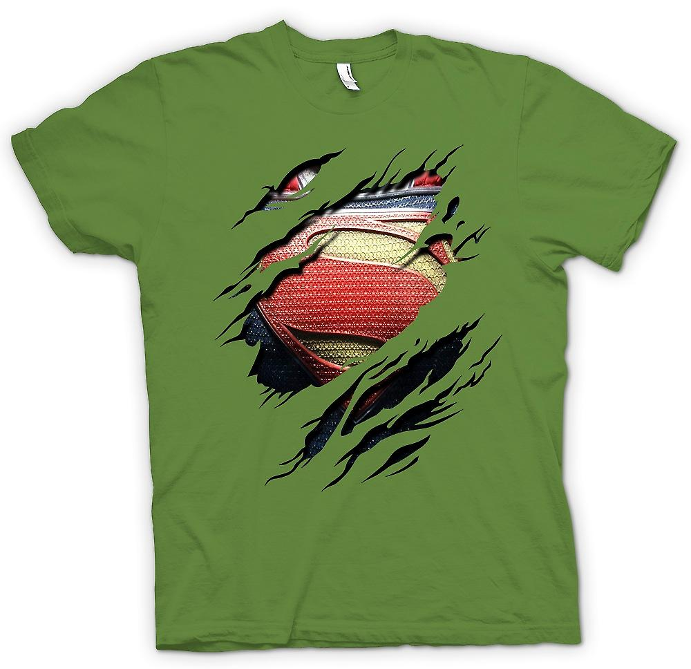 Mens T-shirt - neue Super Mann Kostüm - Superhero Riss Design
