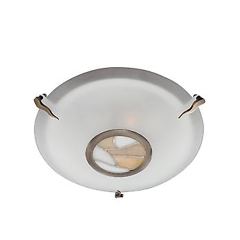 Searchlight 36095AM Glass and Tiffany Flush Ceiling Light Fitting