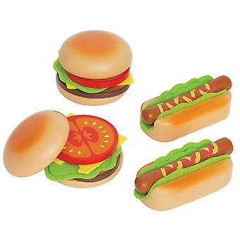Jeu d'imitation enfant jeux jouets Jouets hamburgers et hotdogs 0102081