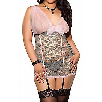 Waooh69 - Corset with lace neckline transparent Mein