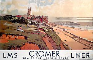 Cromer, Norfolk ls (old rail ad.) fridge magnet