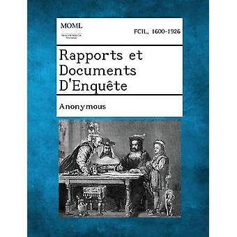Rapports Et dokumenter DEnquete av Belgia kommisjonen DEnquete Sur La VI
